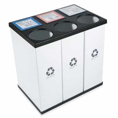 RecycleBoxBin-PlasticTriple-Recycling-Bin