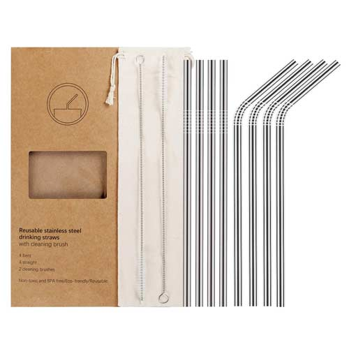 YIHONG-Set-of-8-Reusable-Stainless-Steel-Metal-Straws