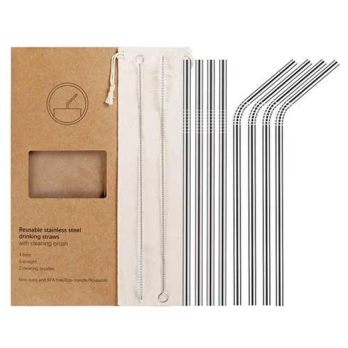 YIHONG-Set-of-8-Reusable-Stainless-Steel-Metal-Straws
