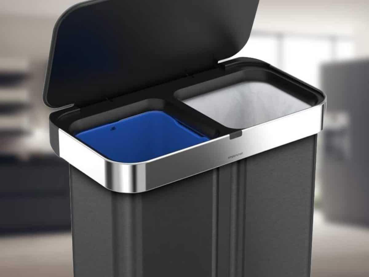 Beste Doppelmülleimer - Recycling Mülleimer mit zwei Fächern