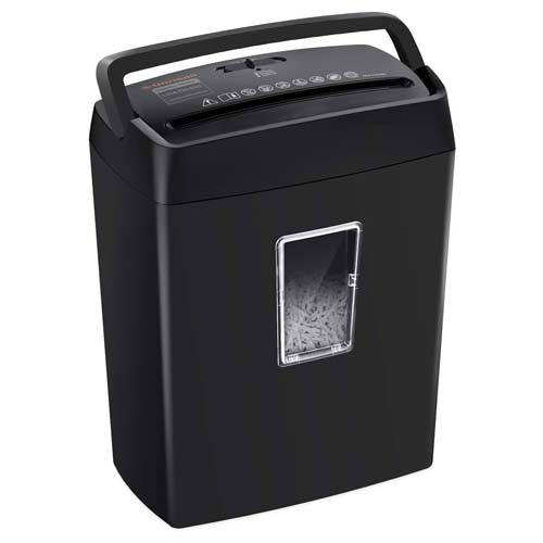 Bonsaii-6-Sheet-Cross-Cut-Paper-Shredder-Black-C204-C