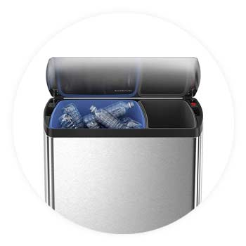 Dual-compartment-trash-can