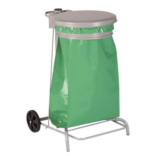 afvalzakhouder-folierek-50-liter-verrijdbaar-wielen