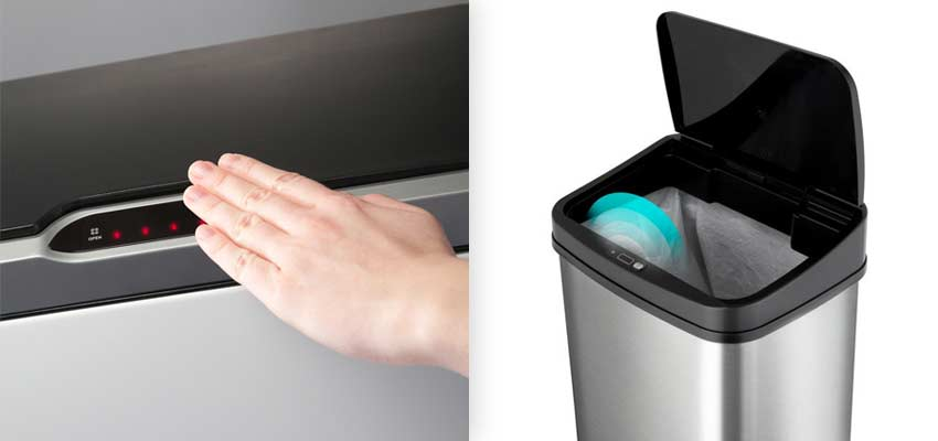 infrared-motion-sensor-garbage-can