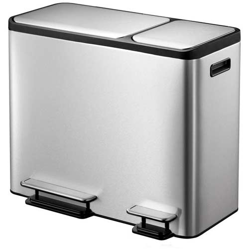 EKO-Dual-Compartment-Recycle-Step-Trash-Can