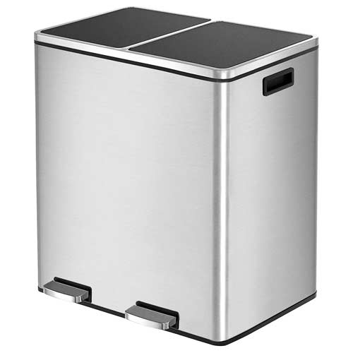 Best Dual Trash Cans | Double Compartment Recycling Bins