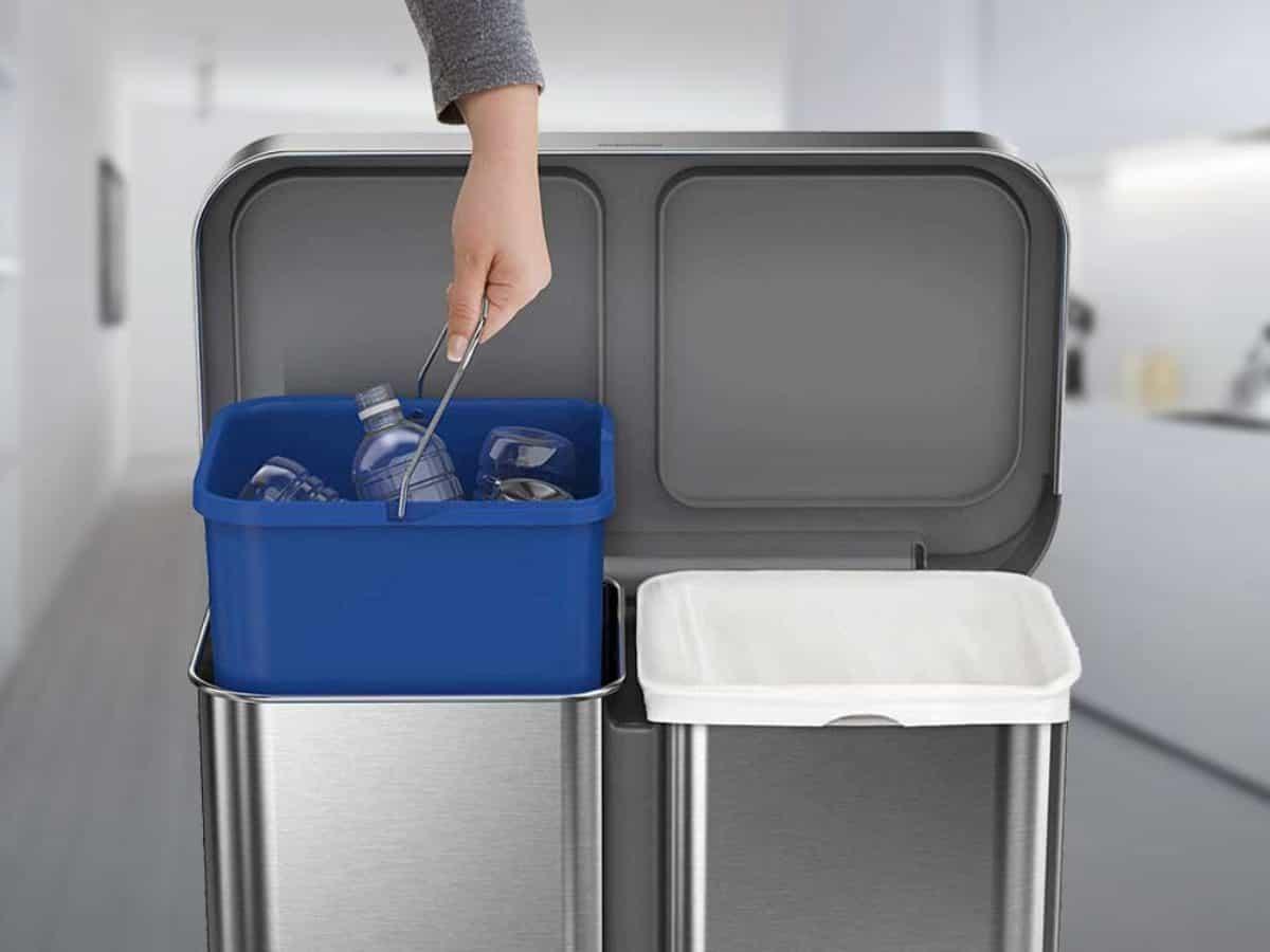 Afvalbak Voor De Keuken Of Keukenkast Gescheiden Prullenbak
