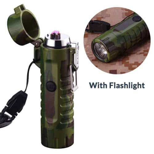 Icfun-waterproof-plasma-lighter-with-flashlight