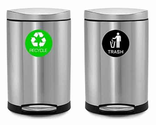 Mülleimer-Recycling-Aufkleber