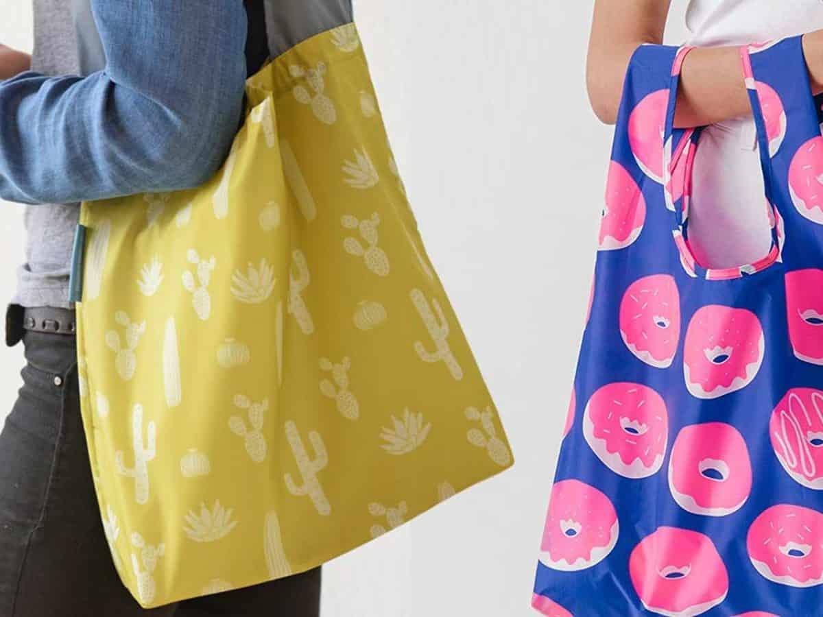 2 Stück Wiederverwendbare Einkaufstasche Shopper Netztasche Obst Beutel