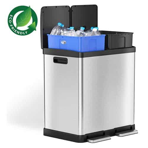 iTouchless-Dual-Step-Trash-Can-Recycle-Bin