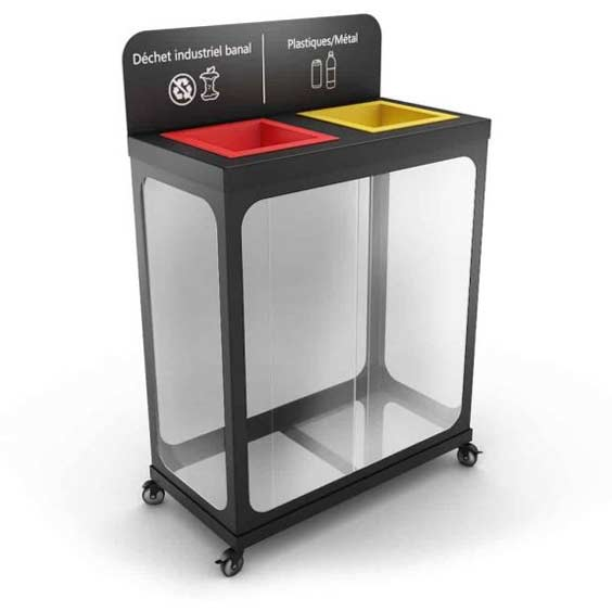 AURIGA-Smart-Recycling-Bin-with-2-Clear-Compartments-Station