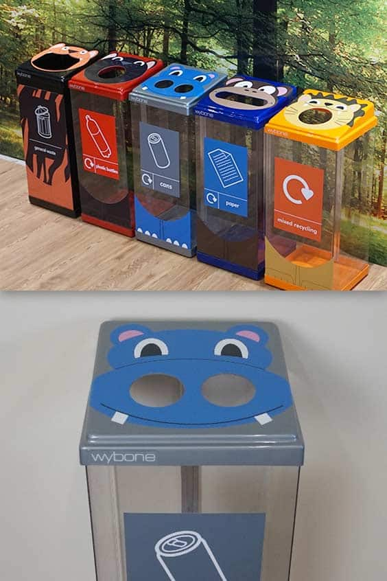 Box-Cycle-Animal-Character-Face-Recycling-Bin-Stations