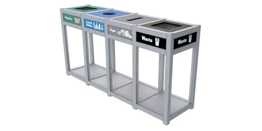 Clearcycle-Quad-Stream-Recycling-Station