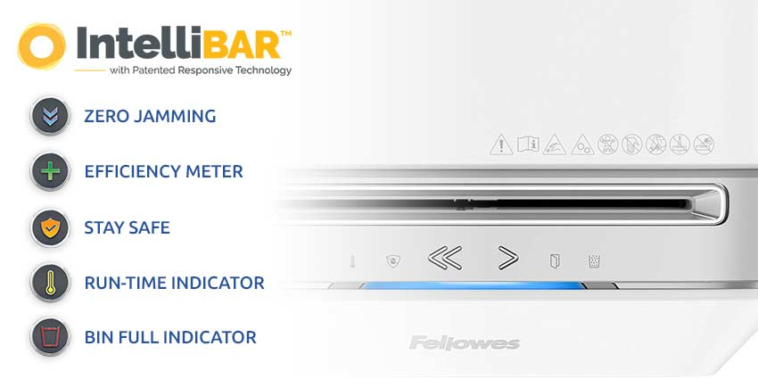 Fellowes-Powershred-LX-Series-Intellibar-Features