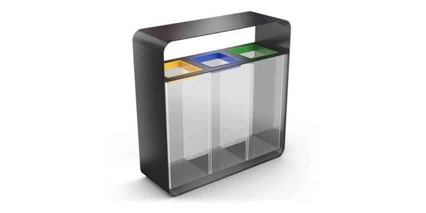 HANKO-Recycling-Bin-with-3-Clear-Compartments