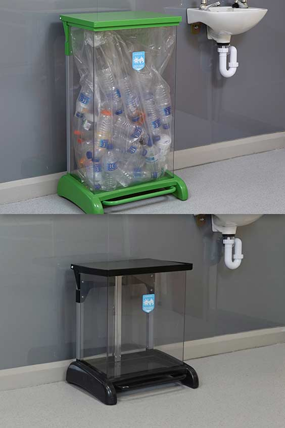 Hands-Free-Hybrid-Recycling-Bin-Station