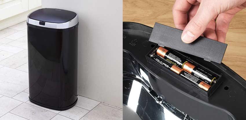 Sensor-Mülleimer-Batterien