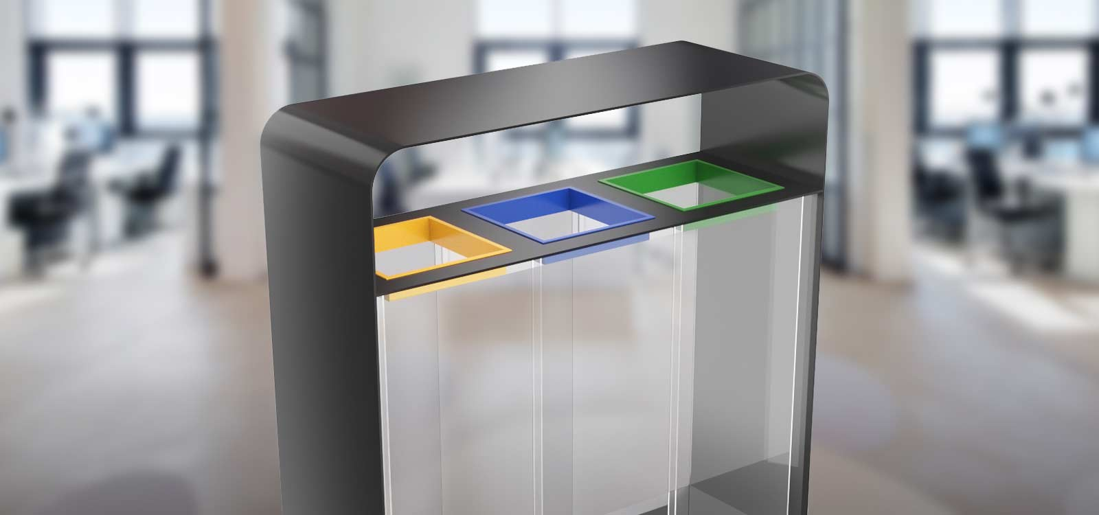 Transparent-recycling-bins-clear-trash-cans