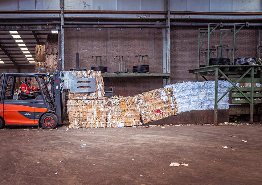 bales-of-compressed-cardboard
