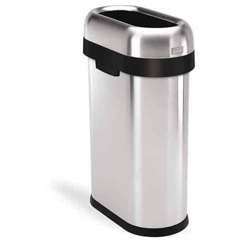 simplehuman-Slim-Open-Top-Trash-Can