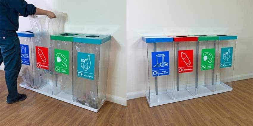 wybone-Box-Cycle-Quad-transparent-Recycling-Bin