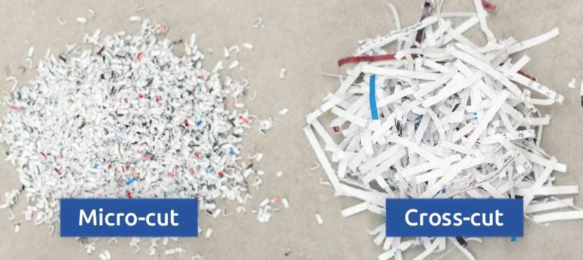 Mikroschnitt-vs-Querschnitt-Schredderpartikel