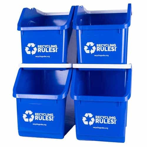 blue-recycling-bins-stackable-waste-paper