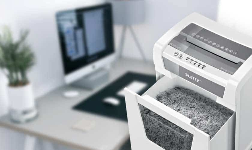 remote-workspace-work-from-home-paper-shredder
