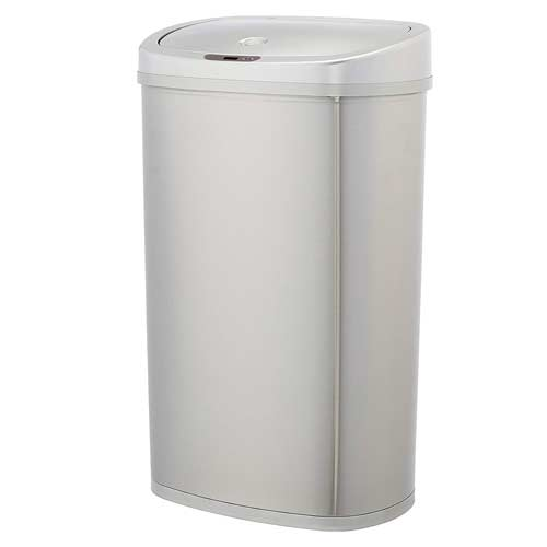 AmazonBasics-Automatic-Stainless-Steel-Trash-Can