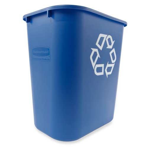 Blauer-Papierkorb
