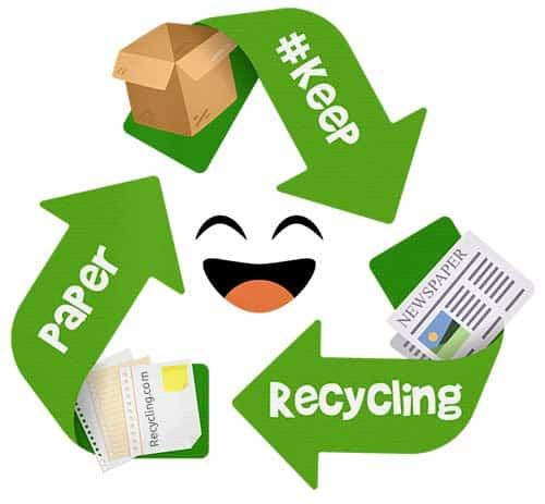 Keep-Recycling-Papier-Pappe-Zeitung