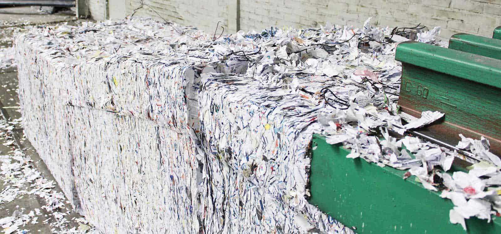 Papierzerkleinerungsdienste-Dokumentenzerstörung