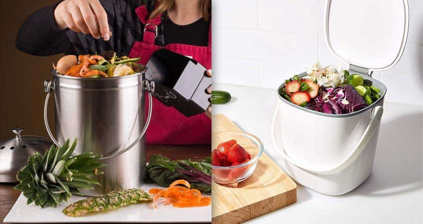 small-kitchen-counter-Compost-Bins