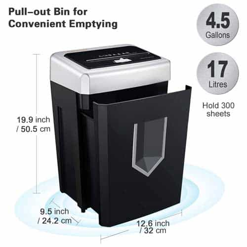 Bonsaii-14-Sheet-Cross-Cut-C169-B-shredder-dimensions