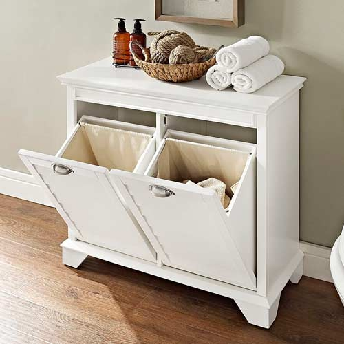 Crosley-Furniture-Lydia-Two-Compartment-Linen-Hamper-for-trash-opened