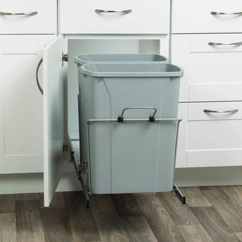 Knape-&-Vogt-RS-PSW15-2-35-R-P-pull-out-double-trash-can-open--cabinet