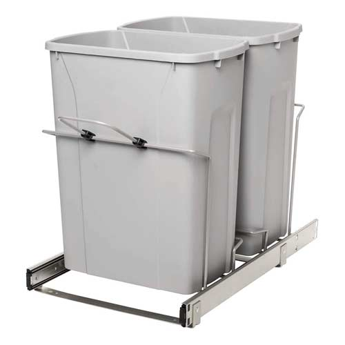 Knape-&-Vogt-RS-PSW15-2-35-R-P-pull-out-double-trash-can