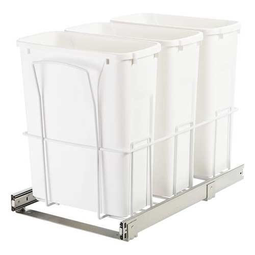 Knape-&-Vogt-SBM15-3-20WH-3-compartment-triple-trash-can