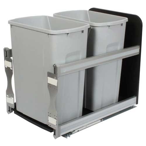 Knape-Vogt-USC15-2-35PT-In-Cabinet-Pull-Out-Trash-Can