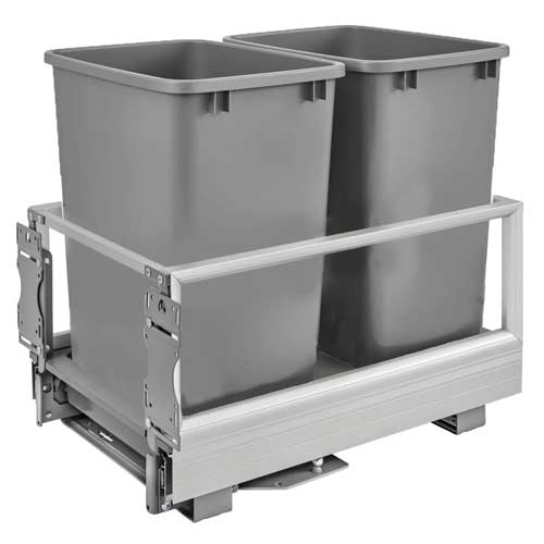 Rev-A-Shelf-5149-18DM-217-Double-35-Quart-Pull-Out-Kitchen-Cabinet-Waste-Bin