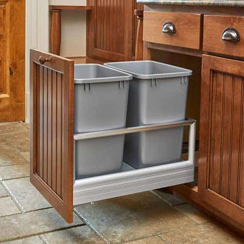 Rev-A-Shelf-5149-18DM-217-Dual-35-Quart-Pull-Out-Kitchen-Cabinet-Waste-Bin
