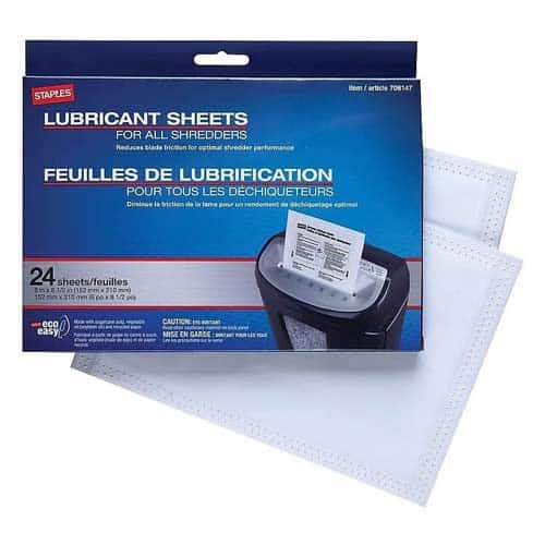 Staples-Shredder-Lubricant-Lubricating-Sheets-24-pack