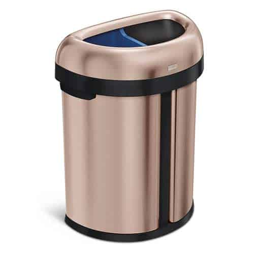 simplehuman--Dual-Compartment-Open-Commercial-Trash-Can