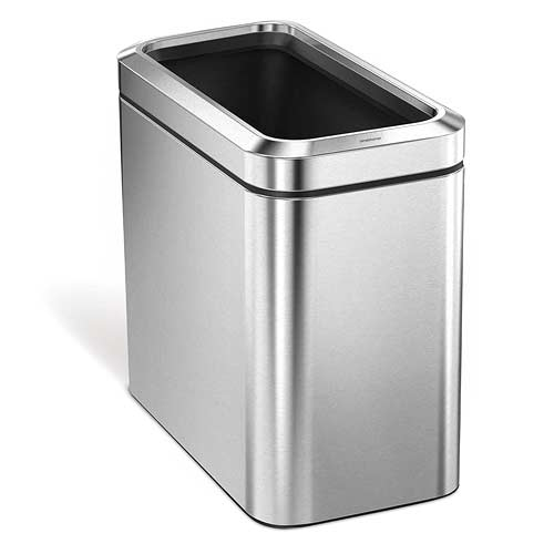 simplehuman-Slim-Open-Commercial-Trash-Can