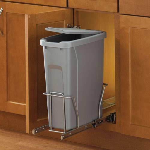 single-compartment-Knape-&-Vogt-PLSW9-1-20-R-P-In-Cabinet-Pull-Out-Trash-Can