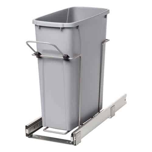 small-narrow-Knape-&-Vogt-PLSW9-1-20-R-P-In-Cabinet-Pull-Out-Trash-Can