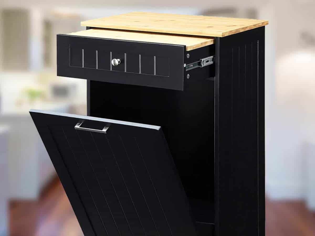 Trash Can Cabinets Tilt Out Wood For The Kitchen