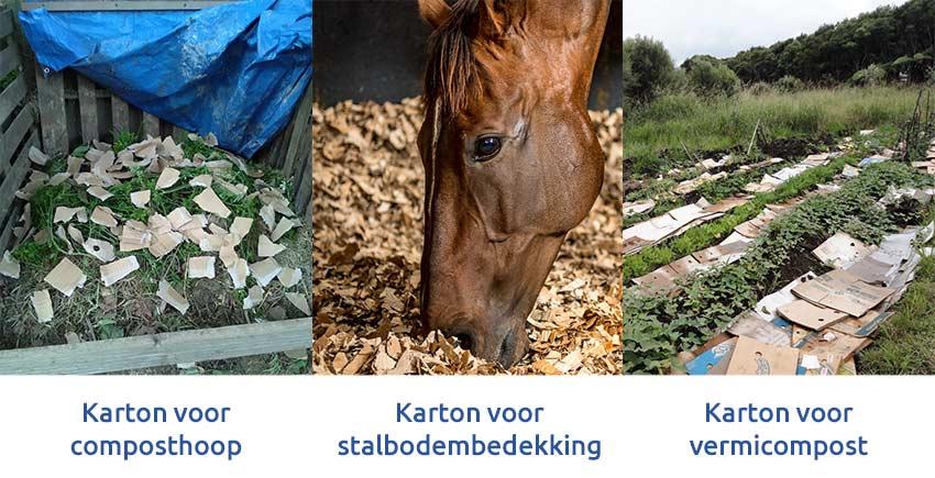 versnipperd-karton-voor-compost-vermicompost-stalbodembedekking