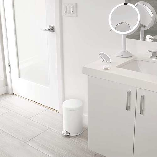 white-small-simplehuman-step-trash-can